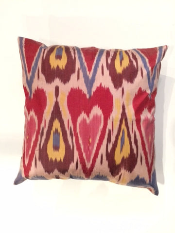 Heart Ikat Pillow