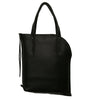 Black Curved Zipper Tote - Admonish