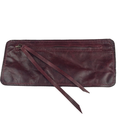 Tobacco Pouch - Distressed Burgundy