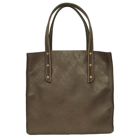 Chocolate Brown Curved Open Tote