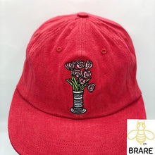 Load image into Gallery viewer, SUPREME Flowers 6 Panel Red box logo camp cap F/W