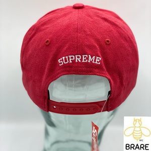 SUPREME Flowers 6 Panel Red box logo camp cap F/W