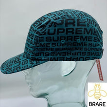Load image into Gallery viewer, Supreme Repeater Camp Cap Teal SS18