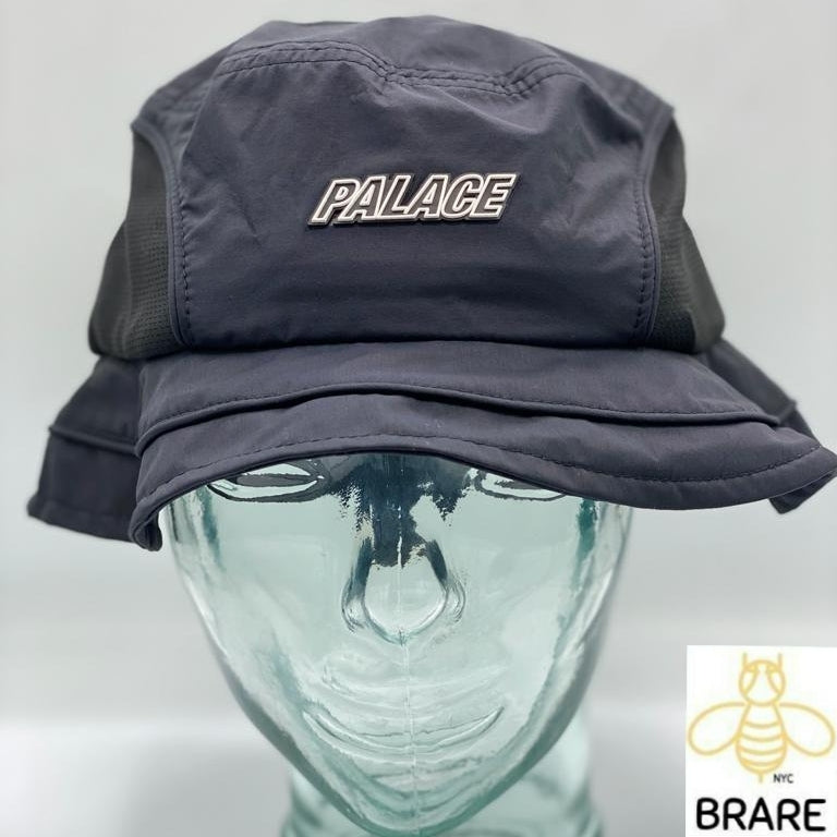 Palace Skateboards Mountain Shell Bucket Hat Black Large/XLarge.