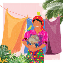 Load image into Gallery viewer, Guna Yala Girl & Peccary - Daniel Dittmar