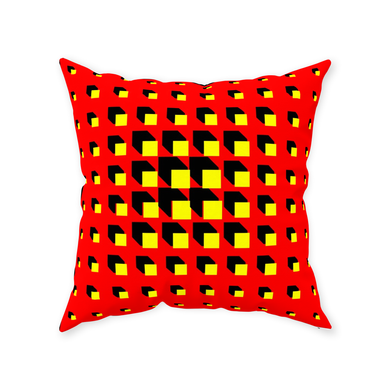 Red Throw Pillow - Daniel Dittmar