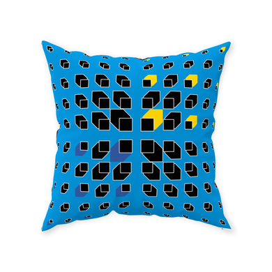Blue Throw Pillow - Daniel Dittmar
