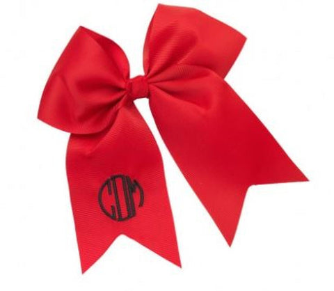Monogrammed Hair Bow (17 bow colors available!) - JennaBenna Sorority