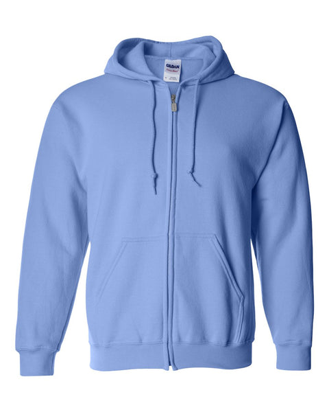 Classic Fit Unisex Full-Zip Hoodie Sweatshirt - Sorority Apparel