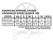 American Apparel Unisex Crewneck Tee - Sorority Apparel