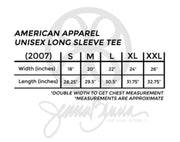American Apparel Unisex Long Sleeve Tee - Vinyl Letters - Sorority Apparel