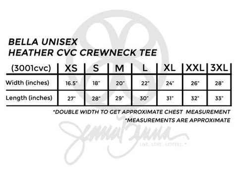 Bella Unisex Heather CVC Crewneck Tee - JennaBenna Sorority