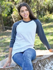 Bella Unisex 3/4 Sleeve Raglan Baseball Tee - Sorority Apparel