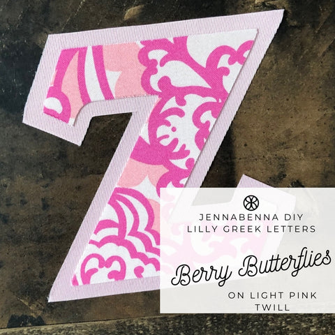 Lilly Berry Butterflies On Light Pink Twill - Sorority Apparel
