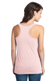 Raspberry District Ladies Fit Racerback Tank + Vera Bali Gold - JennaBenna Sorority