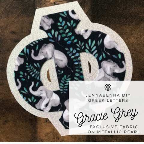 Exclusive Gracie Grey on Metallic Pearl Twill - JennaBenna Sorority