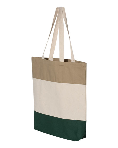 Tri Color Canvas Sorority Tote Bag - Sorority Apparel