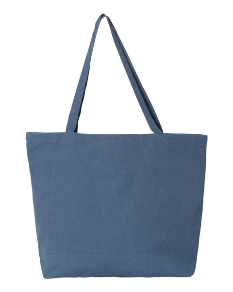 Pigment Dyed Canvas Sorority Tote Bag - Sorority Apparel