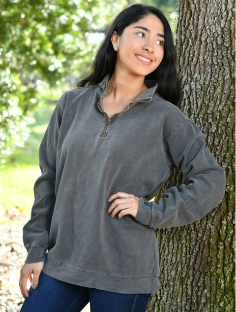 Comfort Colors Unisex Garment-Dyed 1/4 Zip Sweatshirt - JennaBenna Sorority