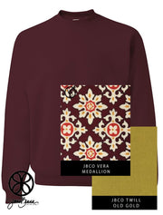 Maroon Unisex Heavyweight Crewneck Sweatshirt + Vera Medallion - JennaBenna Sorority