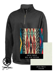 Black Pennant Cadet Collar Unisex 1/4 Zip Sweatshirt + Bel Air Totem Indie - Sorority Apparel