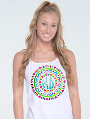 Colorful Mosaic Monogram Sorority Printed Shirt - JennaBenna Sorority