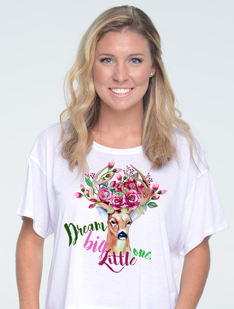 Dream Big Little One Sorority Printed Shirt - Sorority Apparel