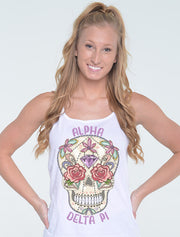 Diamond Muertos Skull Sorority Printed Shirt - JennaBenna Sorority