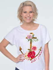 Floral Anchor Sorority Printed Shirt - JennaBenna Sorority