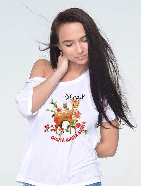 Reindeer Folklore Sorority Printed Shirt - Sorority Apparel