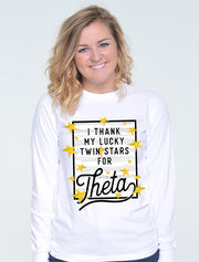 Thank My Lucky Stars Sorority Printed Shirt - Sorority Apparel
