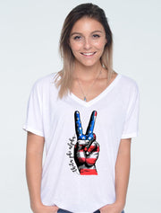 USA Peace Sorority Printed Shirt - JennaBenna Sorority