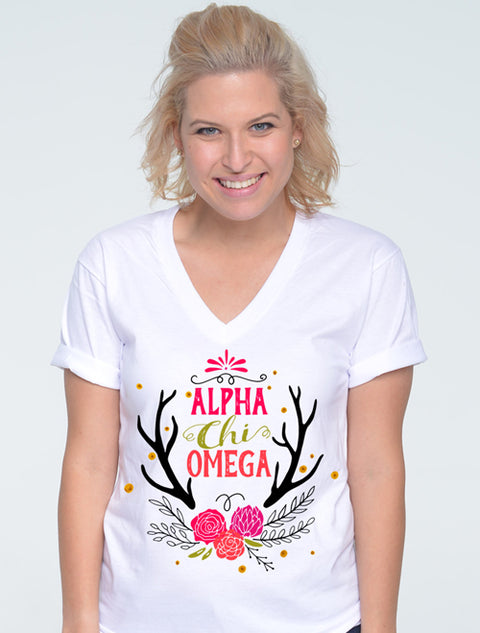 Woodland Floral Sorority Printed Shirt - Sorority Apparel
