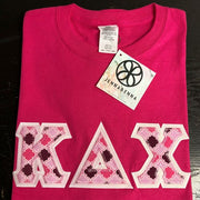 Kappa Delta Chi Fabric Letter Perfect Combo Tee - JennaBenna Sorority
