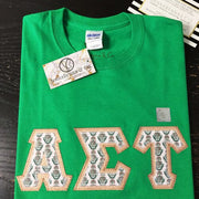 Alpha Sigma Tau Exclusive Crest Perfect Combo Tee - Sorority Apparel
