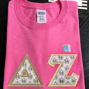 Delta Zeta Exclusive Crest Fabric Perfect Combo Tee - JennaBenna Sorority