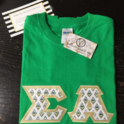 Sigma Alpha Exclusive Crest Fabric Perfect Combo Tee - Sorority Apparel