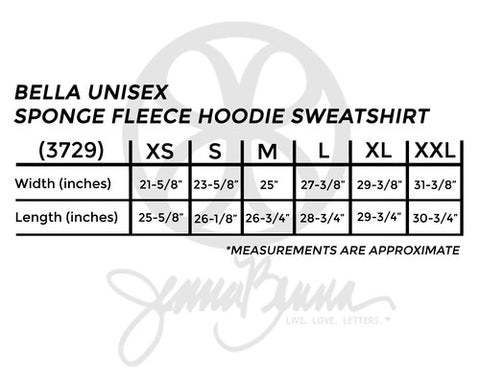 Bella Unisex Sponge Fleece Hoodie Sweatshirt - Sorority Apparel