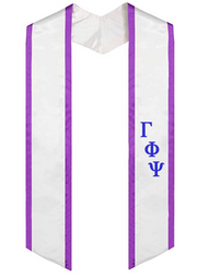 Budget Embroidered Greek Letter Graduation Stole - JennaBenna Sorority