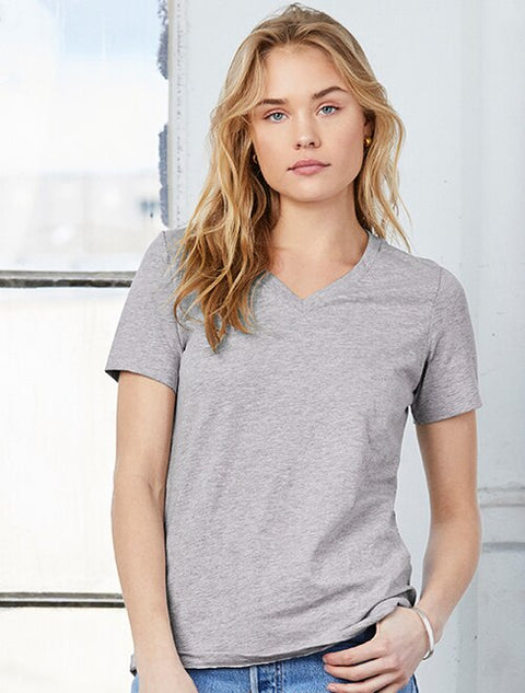 Bella Ladies Relaxed Fit V-Neck Tee - Sorority Apparel