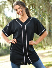 Baseball Jersey With Vertical Greek Letters - JennaBenna Sorority