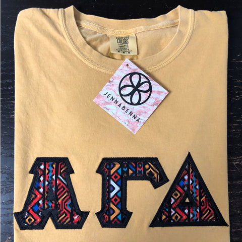 Butter Crewneck With Indie Zelda On Black Twill - JennaBenna Sorority