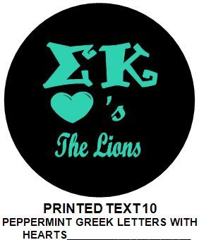 Printed Sorority Pin Back Button - Design 10 - Sorority Apparel