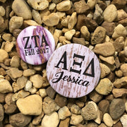 Printed Sorority Pin Back Button - Design 7 - JennaBenna Sorority
