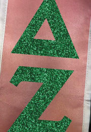 Custom Glitter Flake Graduation Stole - JennaBenna Sorority
