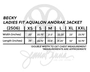 Fabric Greek Letter Becky Ladies Fit Aqualon Anorak Jacket - Sorority Apparel
