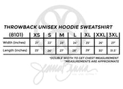 Throwback Unisex Hoodie Sweatshirt - JennaBenna Sorority