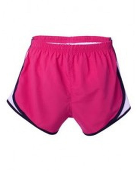 Hot Pink/Black/White Embroidered Velocity Running Shorts - JennaBenna Sorority