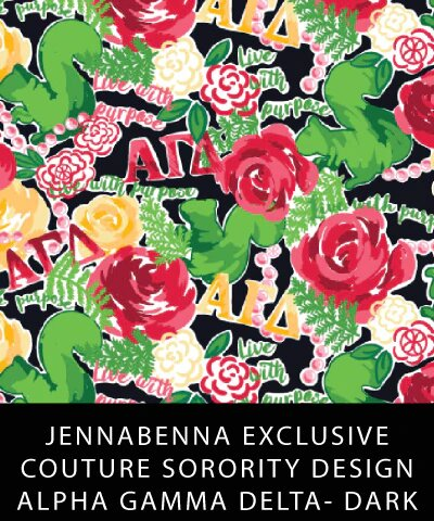 Alpha Gamma Delta Fabric JennaBenna Exclusive Quilt Squares - Sorority Apparel