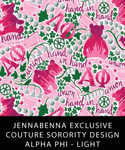 Alpha Phi Fabric JennaBenna Exclusive Quilt Squares - JennaBenna Sorority